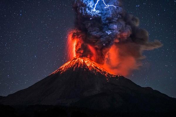 Image result for erupting volcano