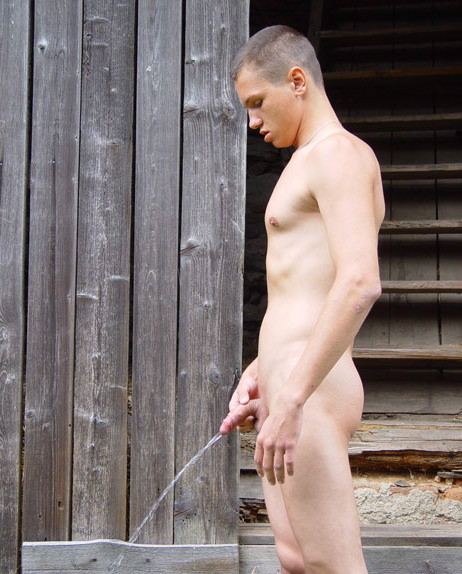 Male peeing nude 13
