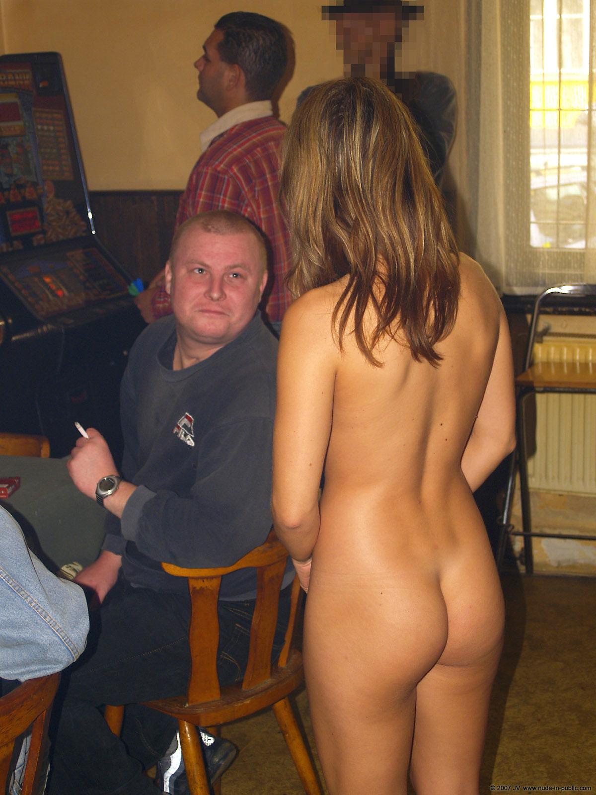 girls at bar naked